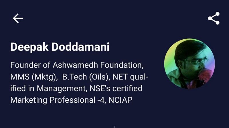 Profile of Deepak Doddamani on Unacademy